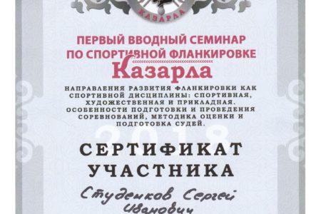 Сертификат по Фланкировки